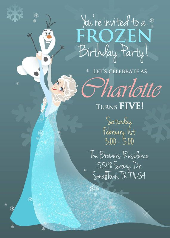 It's just a graphic of Witty Printable Frozen Birthday Card