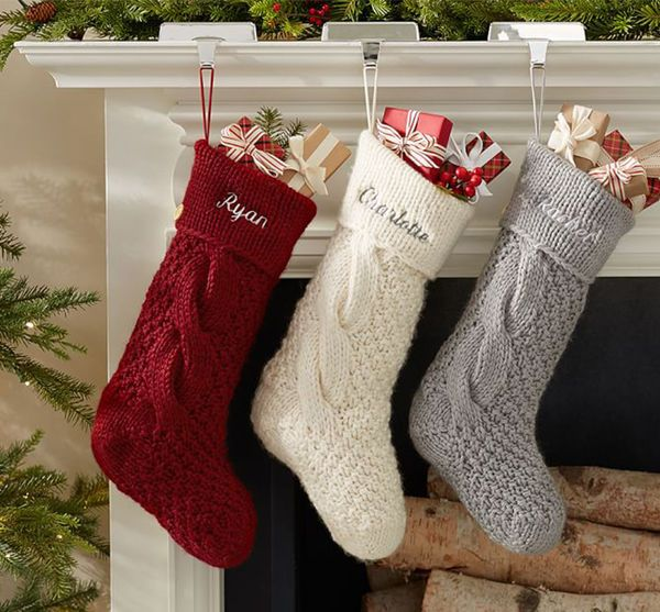 Personalized Christmas Stockings with Name added Free Handmade with your fabric choices