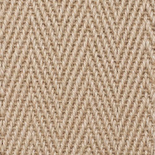 Crucial Trading Jute Herringbone Natural Designer Carpet