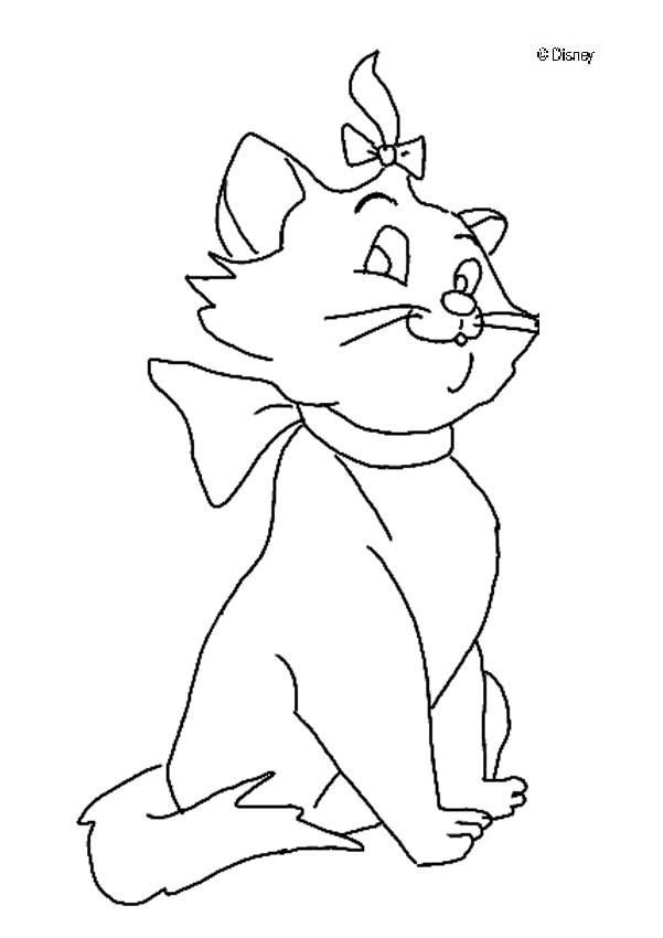 discover this amazing coloring page of the aristocats movie here beautiful aristocats kitten girl a drawing for all disney movies lover