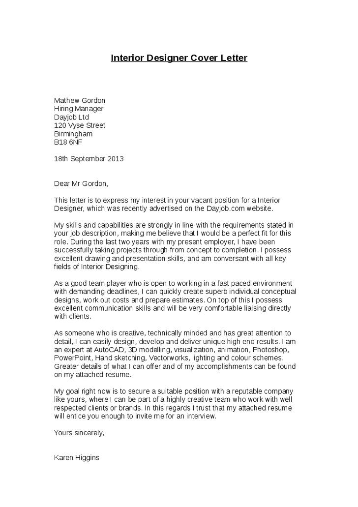 Cv cover letter for interior designer writefiction web fc also rh pinterest