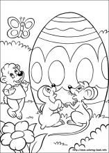 Easter Coloring Pages On Book