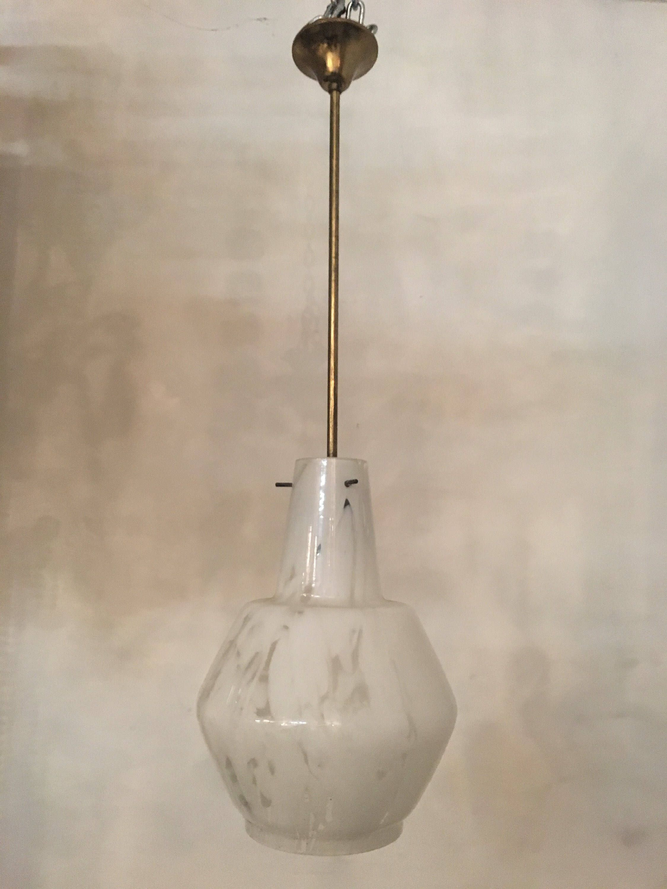 Chandelier Lighting Murano Mazzega Midcentury Ceiling Light Without Wiring Pendant Comp Usa