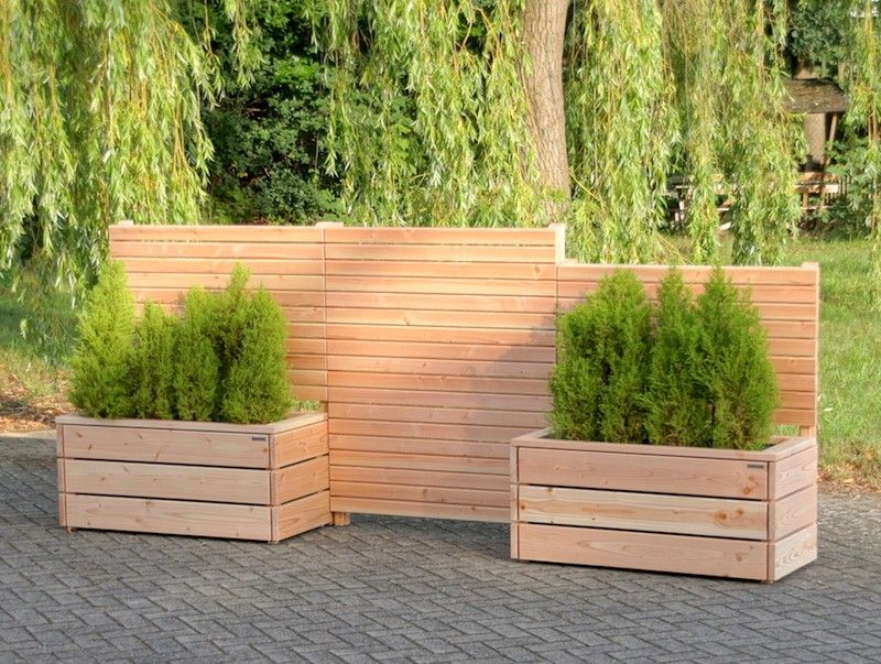 Pflanzkasten Holz mit Sichtschutz Heimisches Holz
