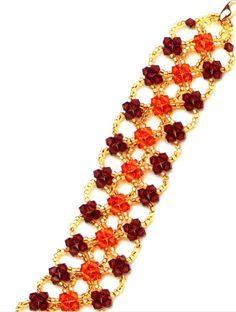 Free pattern for beautiful bracelet Zarina   Beads Magic