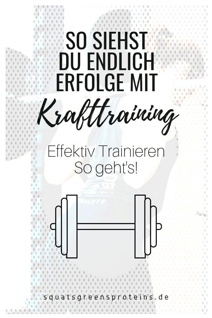 Effektiv trainieren - so kommen Sie beim Krafttraining am besten voran! - Squats, Greens amp Proteins