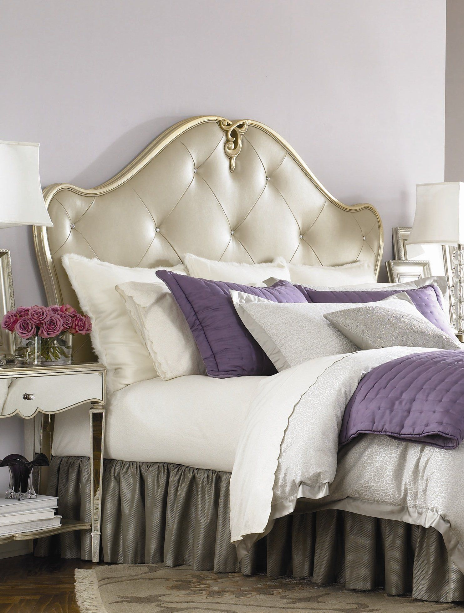 Bedroom, Contemporary Decorating Ideas For Bedrooms Design Of Tufted Headboard
