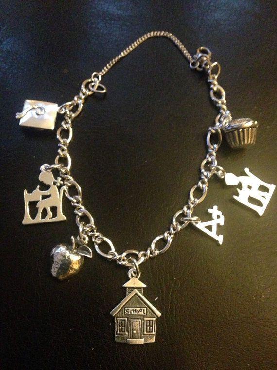 538abf0356274 James Avery teacher charm bracelet school theme 4 by RioVivian ...
