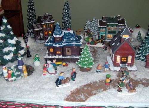 Polymer Clay Christmas Village.Christmas Village My Grandmother Has Always Had A Christmas
