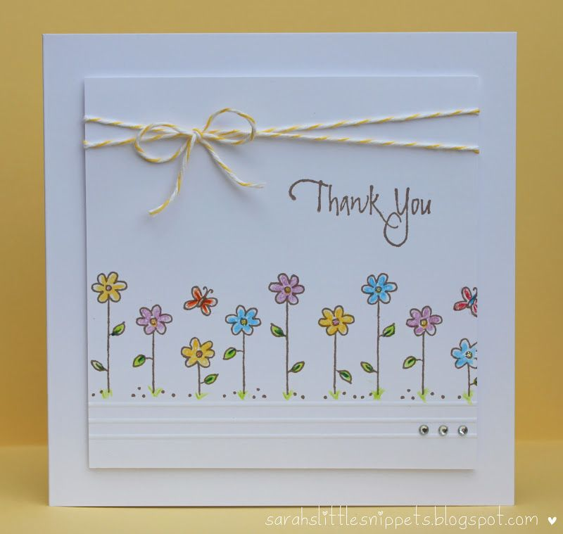 Unique Thank You Card Ideas: Sarah's Little Snippets: Simple Thank You Card -- Gilly