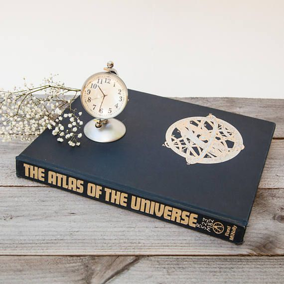 1970 Vintage Atlas of the Universe by Patrick Moore Book for Decor, Science & Space Collector ...