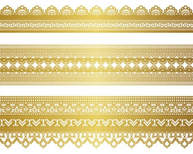 Golden Laces Strips Eps Download Lazy Drawing Gold Pattern Lace Patterns Gold Lace