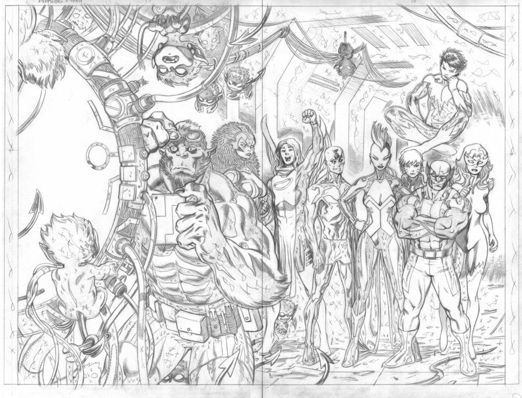 Amazing Xmen1 Pg17-18 preview pages by EdMcGuinness on deviantART