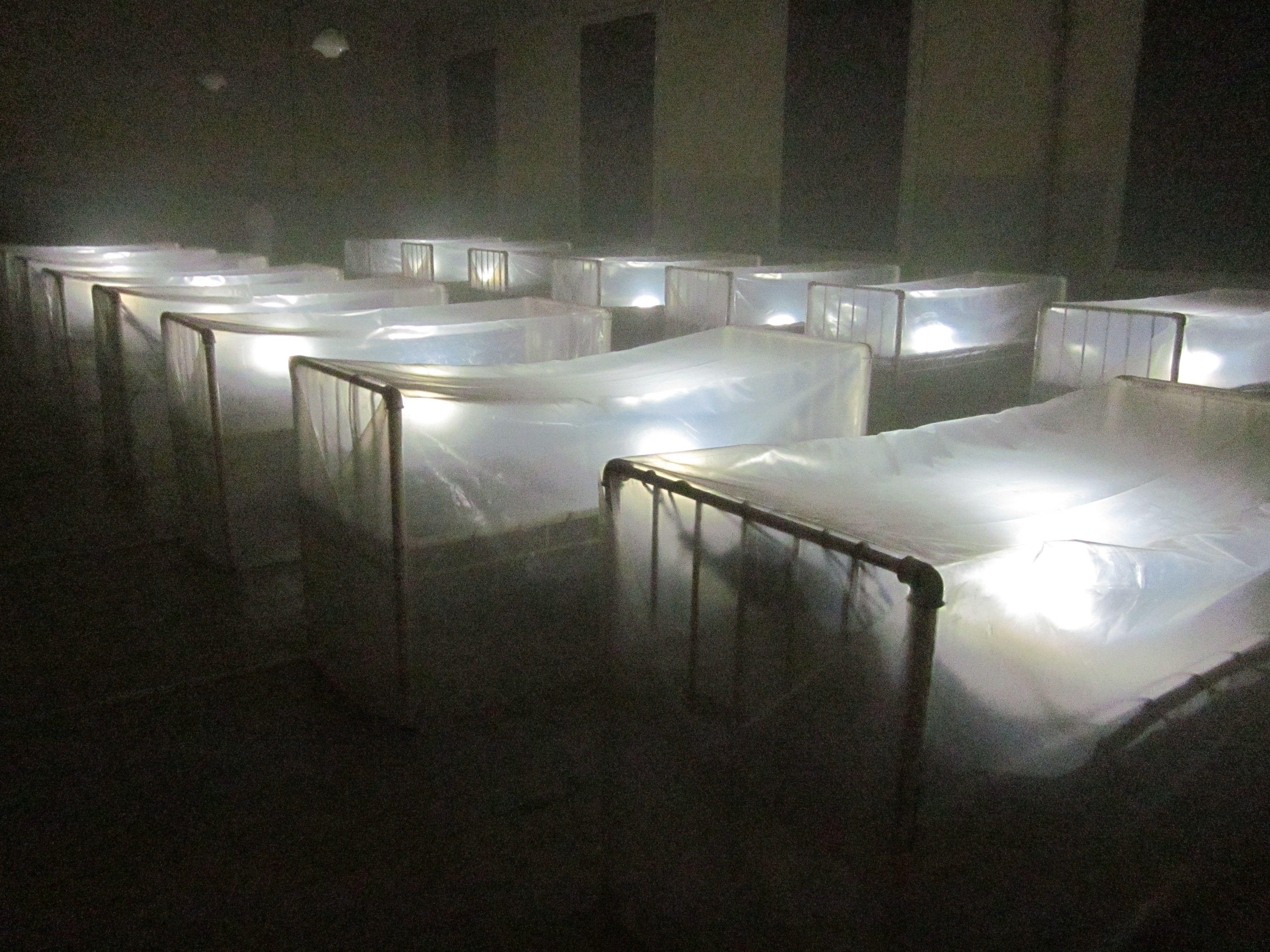 Christian Boltanski, Migrantes, 2012. Installation in Museo Hotel de Inmigrantes, Buenos Aires
