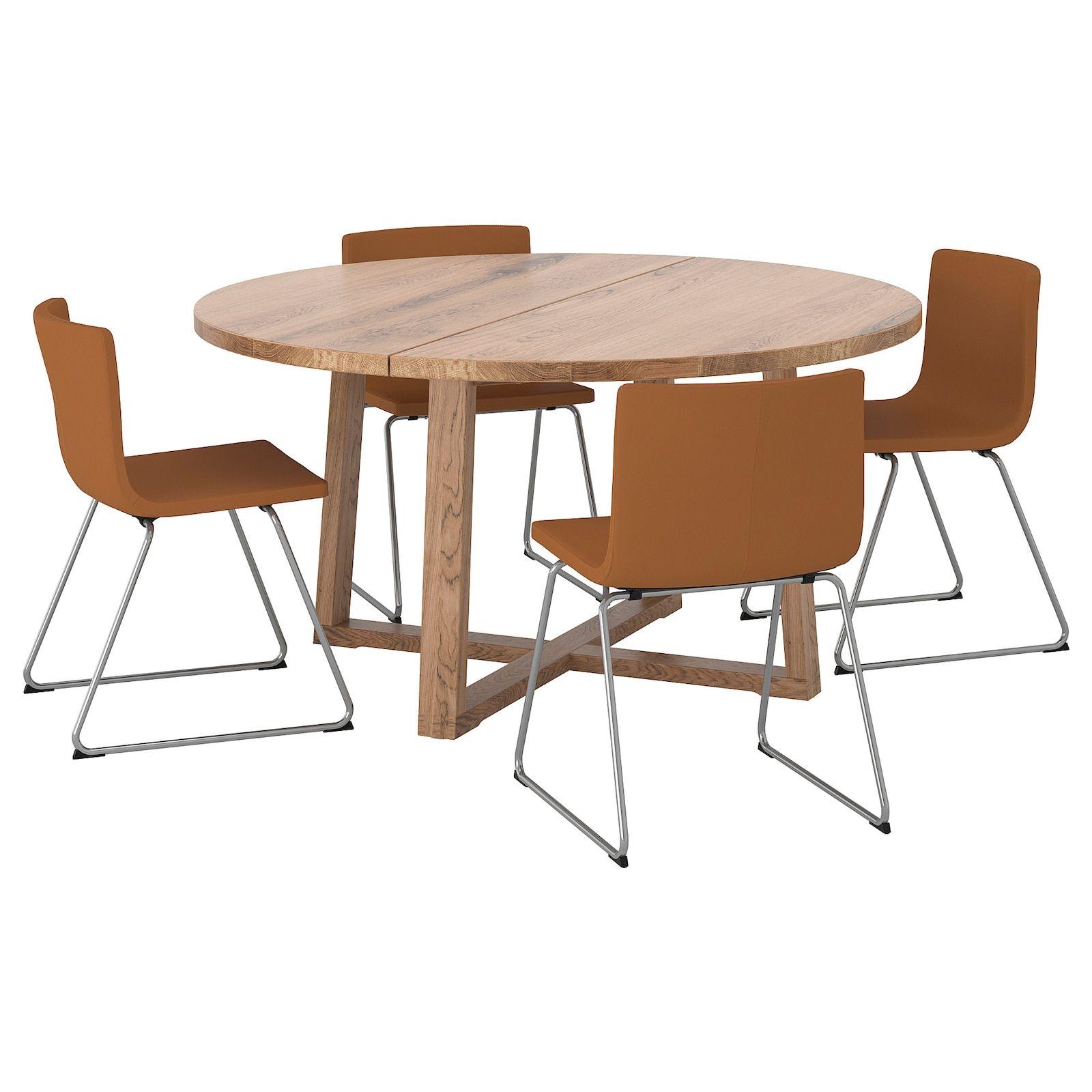 Morbylanga Bernhard Table And 4 Chairs Oak Veneer Brown Stained Mjuk Golden Brown Ikea In 2020 Ikea Table Furnishings [ 1600 x 1600 Pixel ]