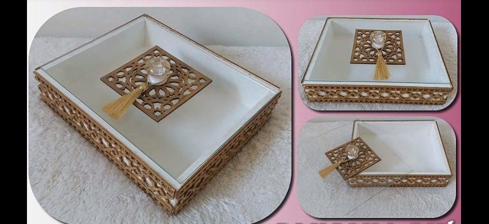 بكل سهولة و بدون تكاليف صايبت صواني تقديم الحلويات الراقية لي كاينة فالأسواق المغربية Fabric Boxes Diy Party Decorations Wedding Gift Boxes