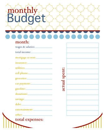 Monthly Budget and cool website My Style Pinterest Monthly - spreadsheet for monthly expenses