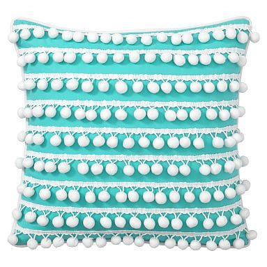 Poolside Pom Pom Pillow Covers #pbteen