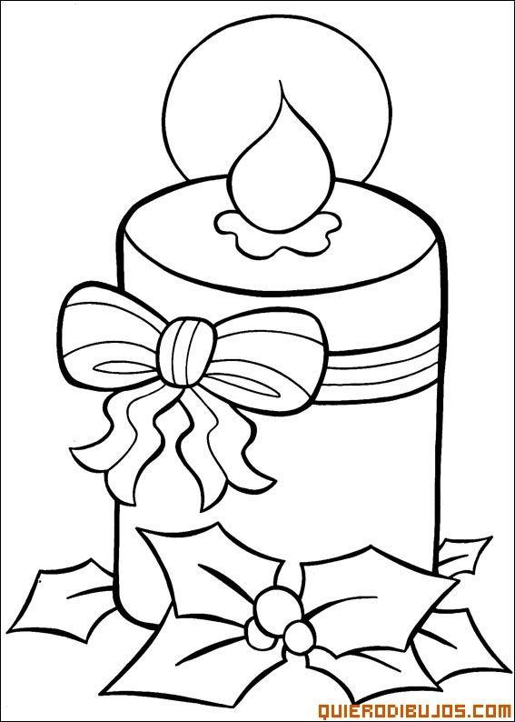 Vela Navidena Decorada Desenhos Natalinos Para Colorir Cores Do