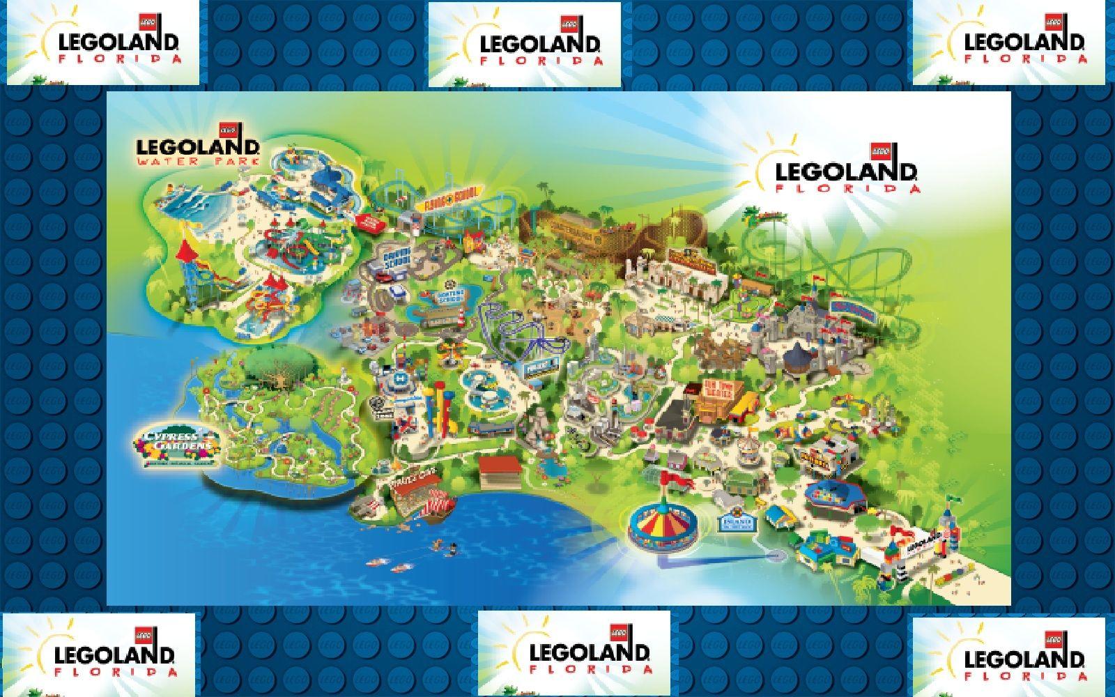 #LEGOLANDFlorida Map of Legoland florida! Look how big ...