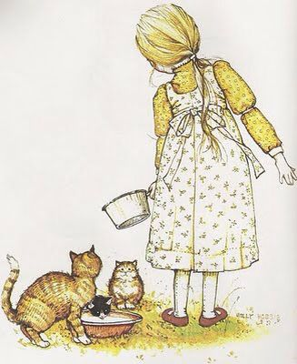 Holly Hobbie  Girl with cats