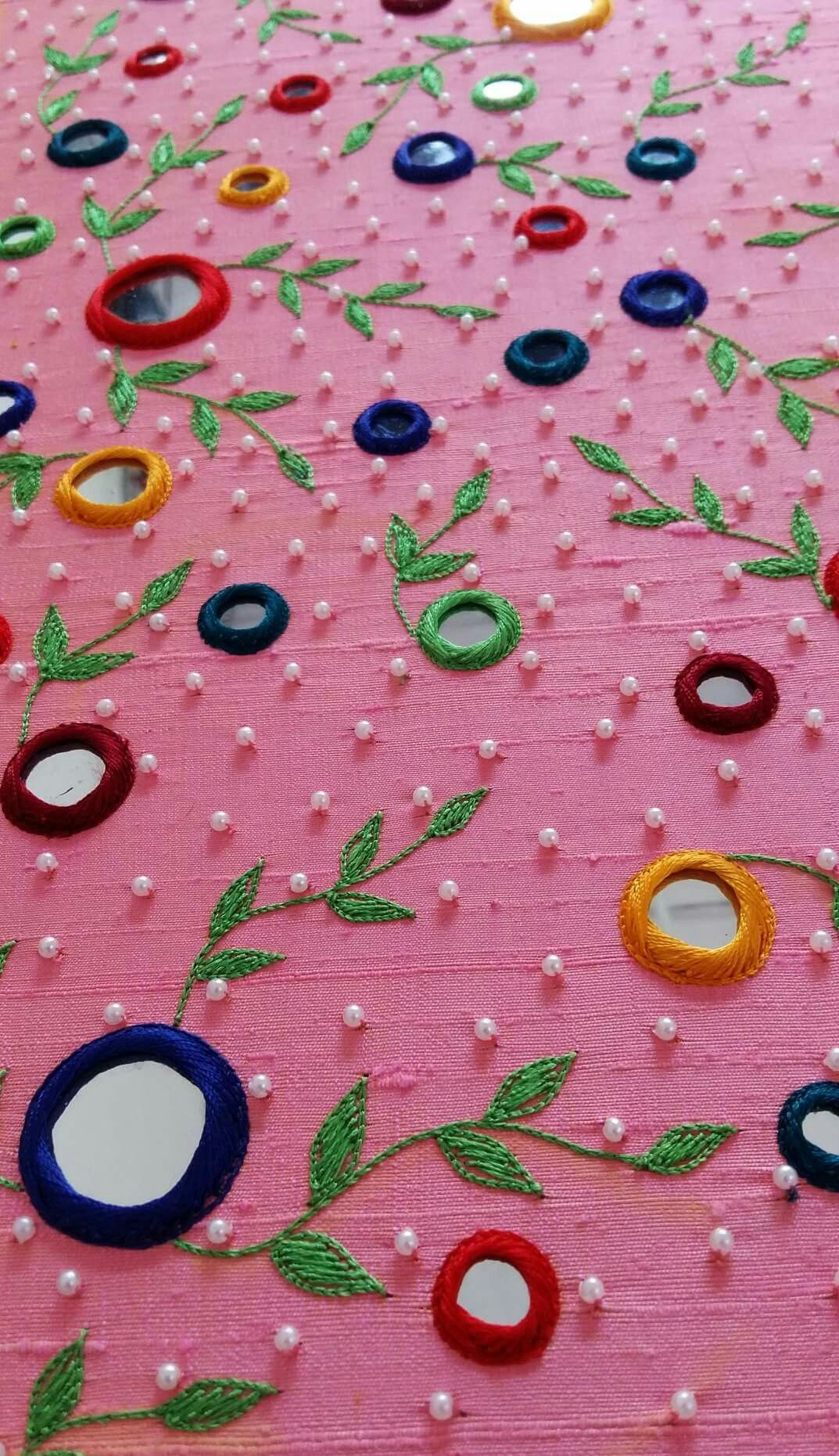 92c04883c06acf Mirror work Hand Embroidery Dress