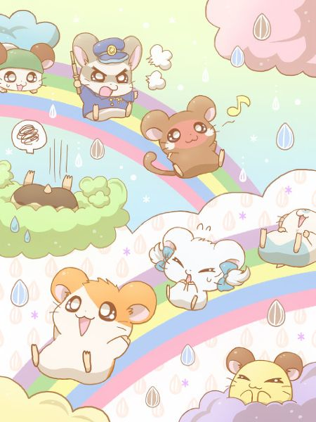Whenever I Was Younger I Wasn T Into Anime At The Time My Cousins Would Watch Dbz I Always Thought That It Looked Weird Hamtaro Kawaii Chibi Cute Drawings