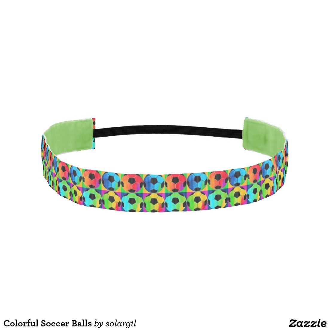 Colorful Soccer Balls Athletic Headbands