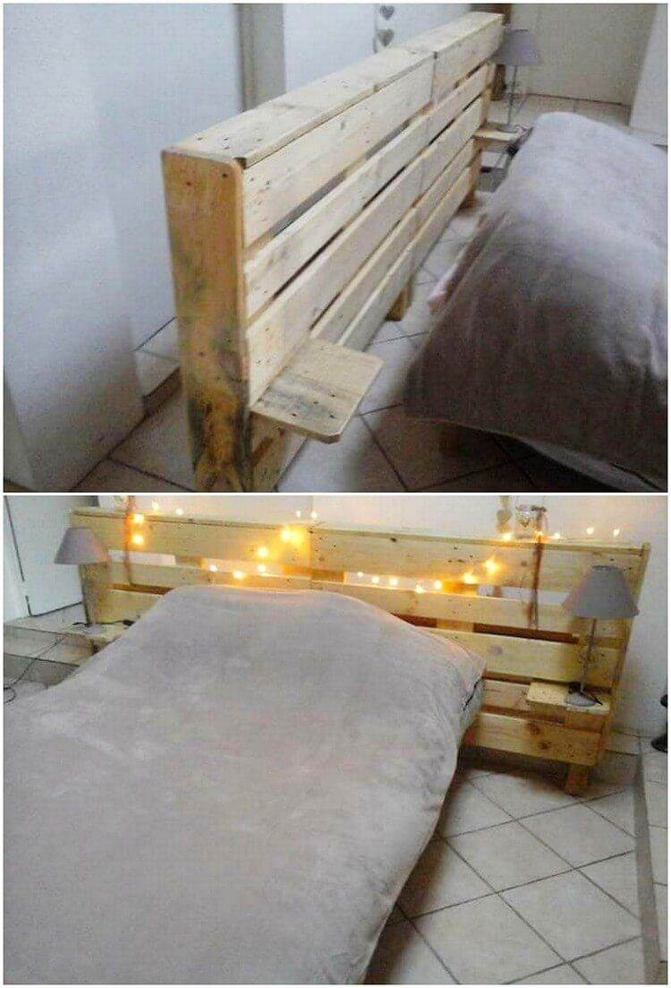 Ingenious ideas to recycle old wood pallets headboard designs