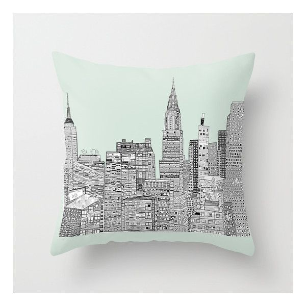 New York Vintage Throw Pillow ($20) ❤ liked on Polyvore featuring ...