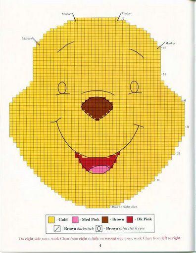 Kissen häkeln - crochet pillow - Ferkel, Pooh, I-Ah, Tigger. | Đan ...