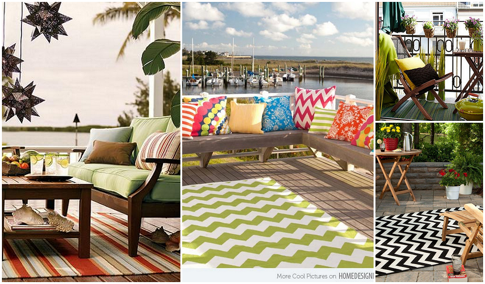 Viste tu balc n terraza o jard n con una alfombra de exterior estilo y reciclaje terrazas y - Alfombras para terrazas ...