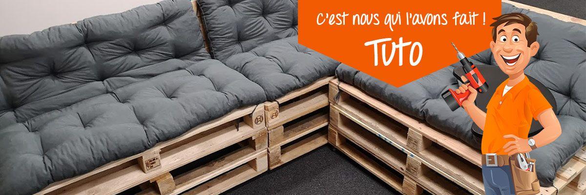 Tuto Diy Faire Un Canape En Palettes Canape Palette Construire Un Canape Et Palette