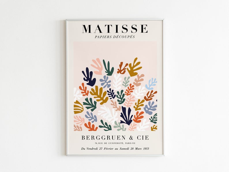 Tate Gallery Sculpture of Matisse 1953 Vintage Art Print Poster A1 A2 A3 A4 A5