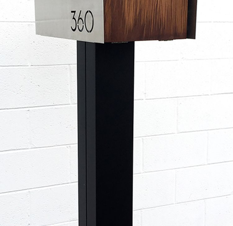 6x6 square mailbox post for waldo and bailey style mailboxes allows for 41 mounting hieght colors match mailbox finishes if ordered with mailbox