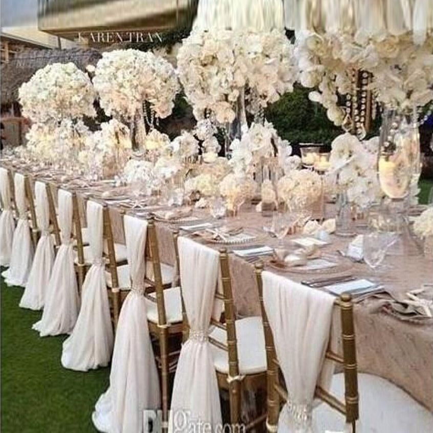 wedding reception venues cost%0A Find More Wedding Dresses Information about    Pieces Factory Price Chair  Sashes Cover Wedding Decoration Banquet
