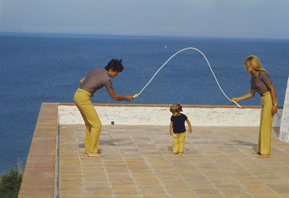 alaindelon:    With Nathalie and Anthony in Saint-Tropez.
