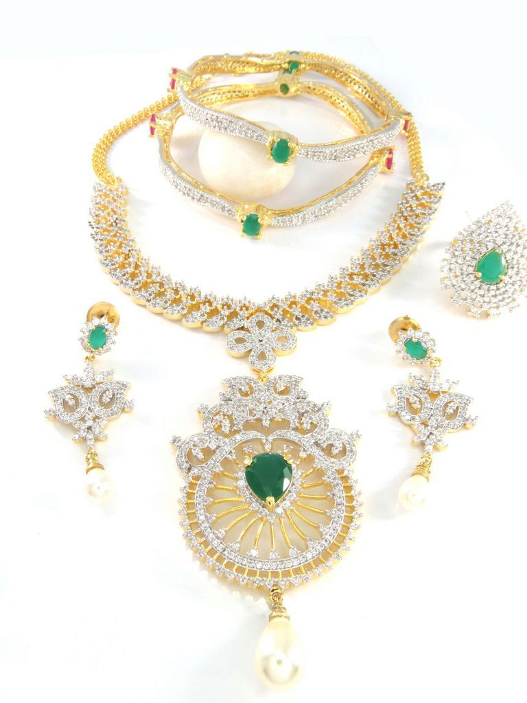 5c15839d7 Matching wholesale jewelry from Indian Distributor and Manufacturer. We  supply our CZ Jewelry worldwide.