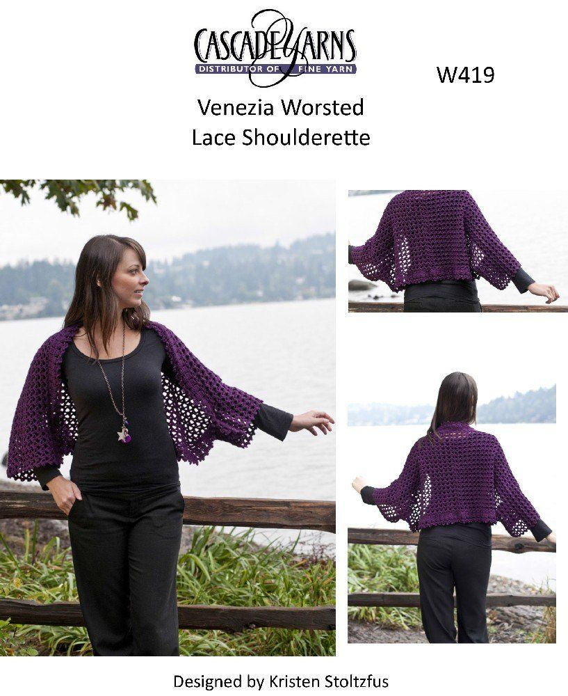 Lace Shoulderette in Cascade Venezia Worsted - W419. Discover more ...
