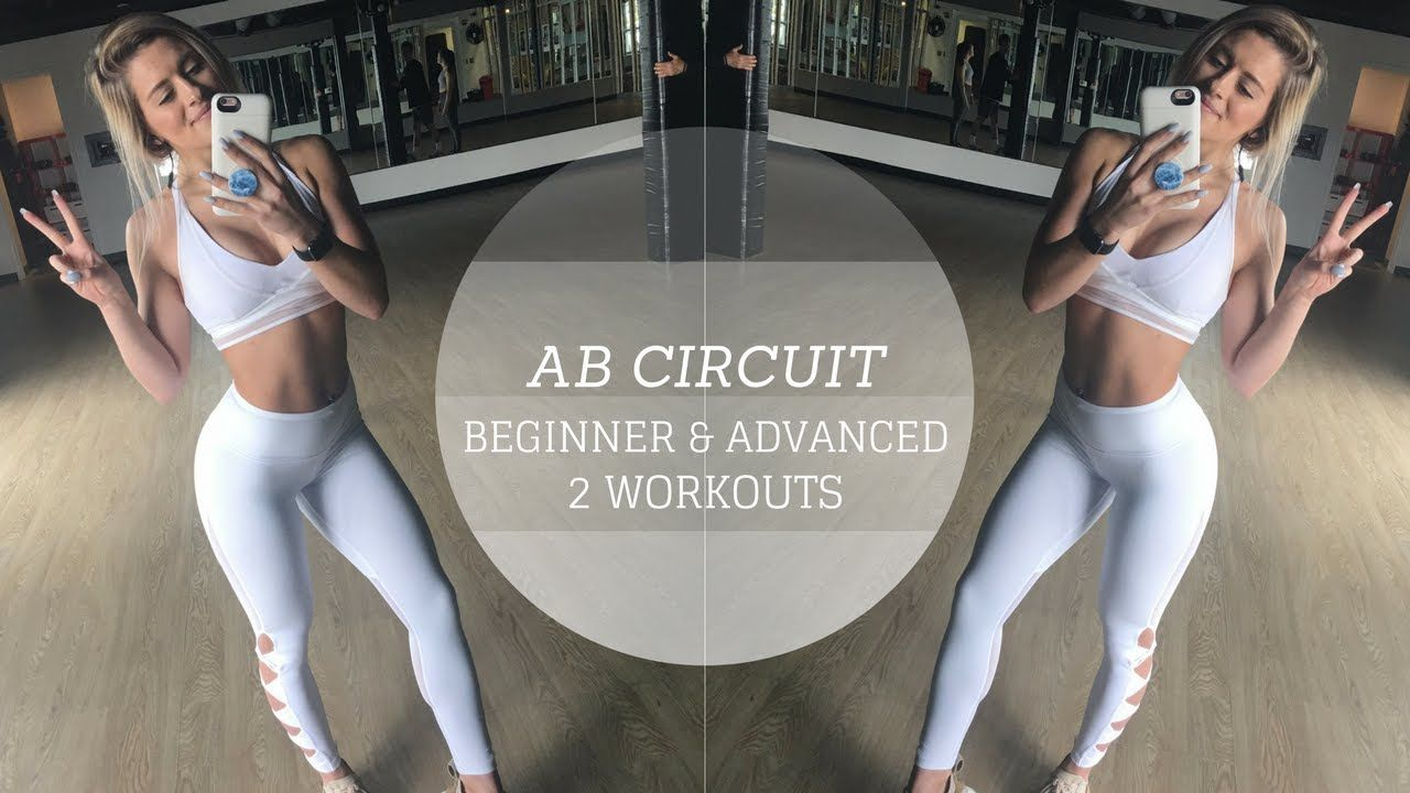 ABS WORKOUT | Quick Beginner and Advanced Circuits - Whitney Simmons