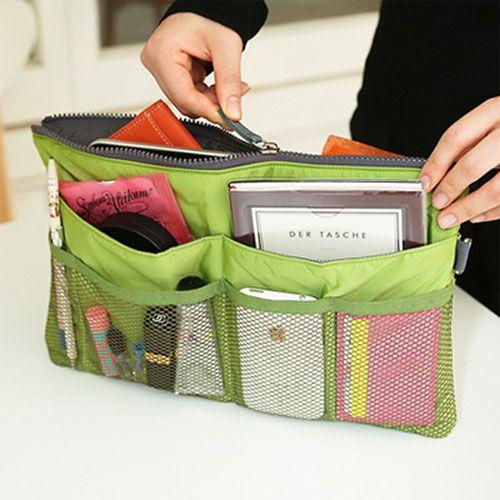 Slim Bag in Bag | Organisateur de sac à main, Astuce rangement et Couture tutoriel