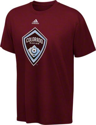 Colorado Rapids Youth adidas Soccer Primary Logo T-Shirt  87d40d0d0