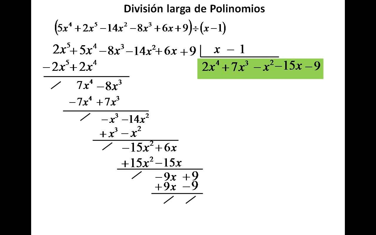 Division Entre Polinomios