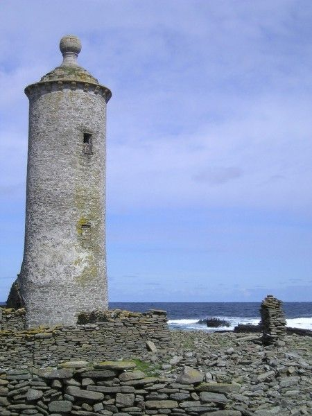 Old lighthouse beacon tower, North Ronaldsay.