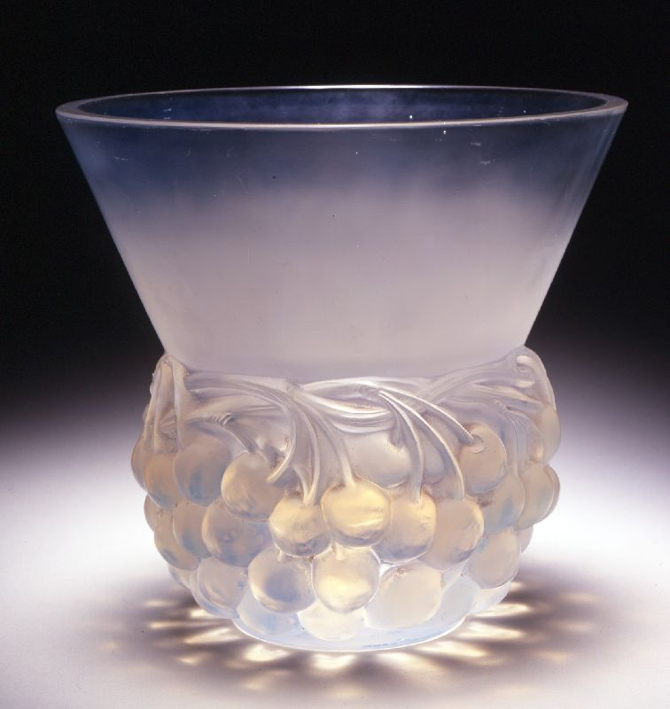"design-is-fine: ""René Lalique, Cherries vase, 1929 """