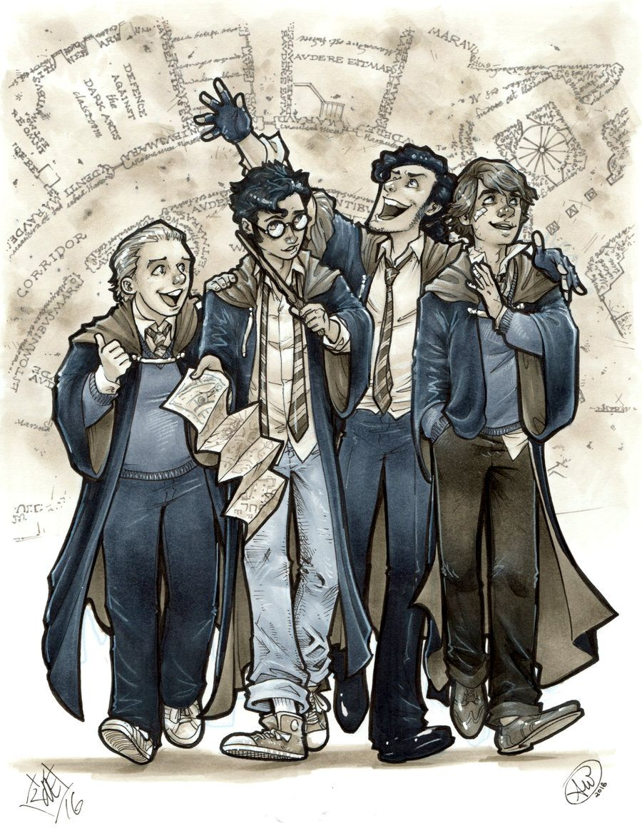 Harry Potter The Marauders By Adamwithers On Deviantart In