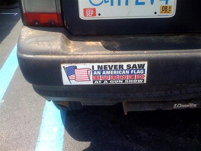 Patriotic bumper sticker second amendment