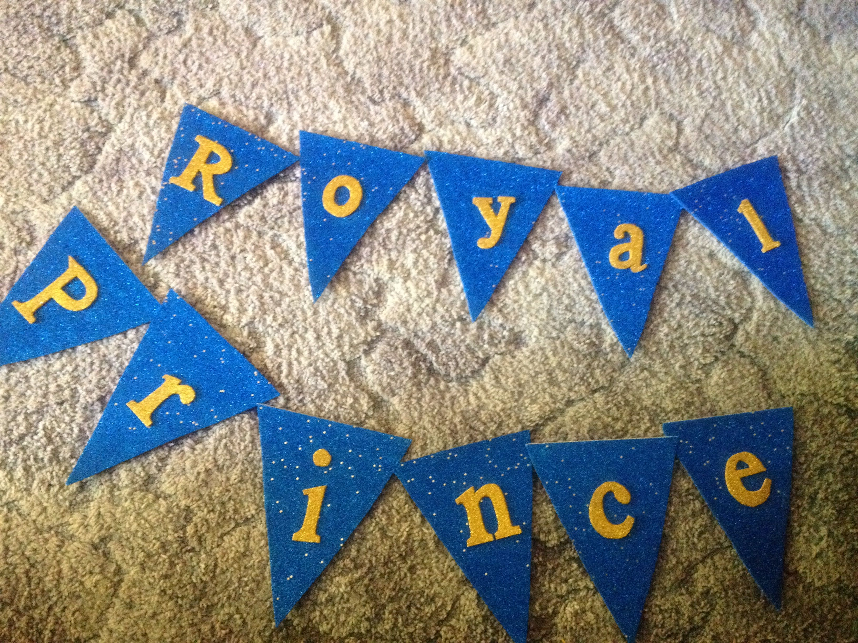 Cute Diy Banner Made For Royal Prince Baby Shower Total