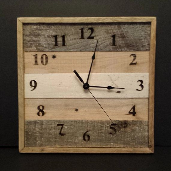 Reclaimed Wood Wall Clock Rustic Pallet Wall Clock With S
