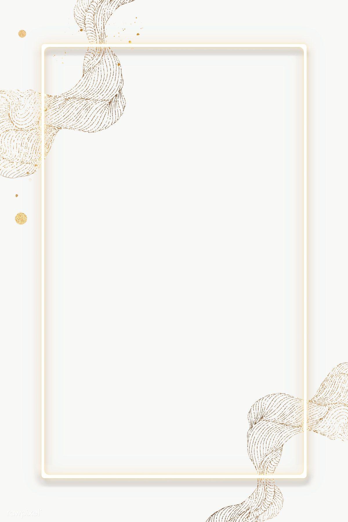 Download Premium Png Of Yellow Rectangle Frame Transparent Png 2027385 In 2020 Frame Border Design Floral Border Design Flower Background Wallpaper